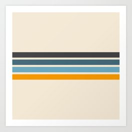 Vintage Retro Stripes Kunstdrucke