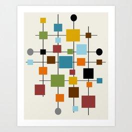 Mid-Century Modern Art 1.3 Art Print