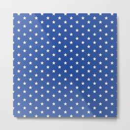 Superstars White on Blue Small Metal Print