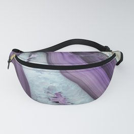 Purple Agate Slice Fanny Pack