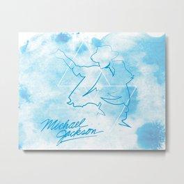 The King MJ Metal Print