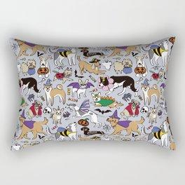 Dogs Fun Halloween Rectangular Pillow