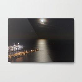 Navy Pier Moonlight Metal Print