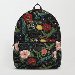 Botanical and Black Pugs Backpack
