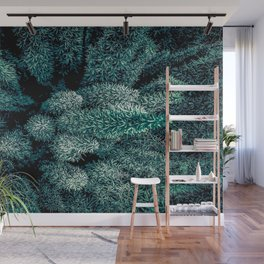 closeup green plant texture abstract background Wall Mural