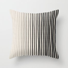 Black Vertical Lines Throw Pillow