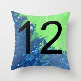 Blue & Green, 12, No. 2 Throw Pillow