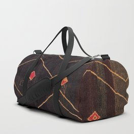 Feiija  Antique South Morocco North African Pile Rug Print Duffle Bag