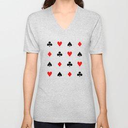 Playing cards pattern Unisex V-Neck