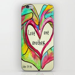 Love One Another John 13:34 iPhone Skin