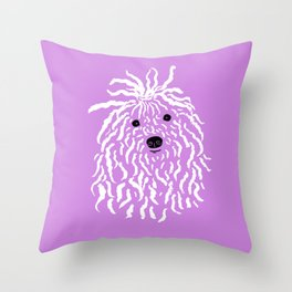 Puli (Violet and White) Throw Pillow