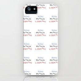 motto of the dominican republic – dios patria libertad iPhone Case