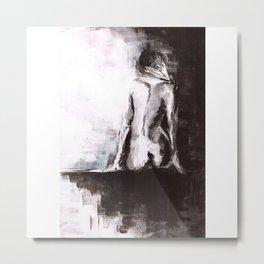Woman nude Metal Print
