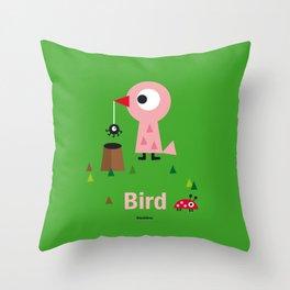 Mr. Bird Throw Pillow