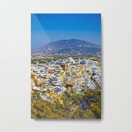 Santorini areal view Metal Print