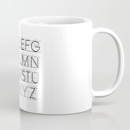 The Alphabet Coffee Mug
