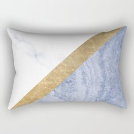 Marble luxe - periwinkle blue Rectangular Pillow