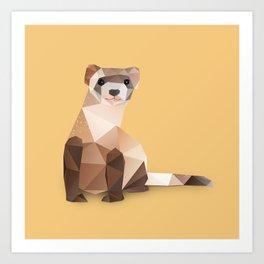 Ferret. Art Print