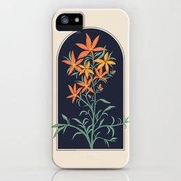 Orange Lily Illustration iPhone Case