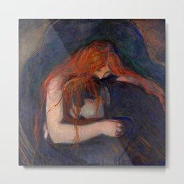 "Edvard Munch ""Vampire"", 1895 Metal Print"