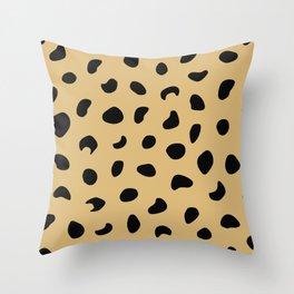 Leopard Print - Warm Neutral Throw Pillow
