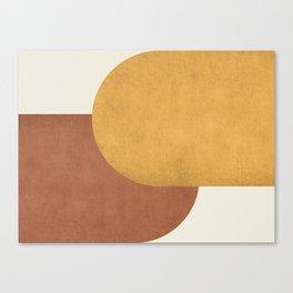 Halfmoon Colorblock - Gold Brown Canvas Print
