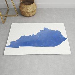 Kentucky State Map Watercolor Print Rug