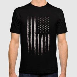 White Grunge American flag T-shirt