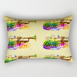 Summer music instruments design Rectangular Pillow