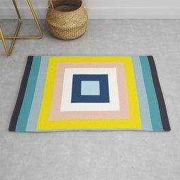 Retro Colored Squares Rug