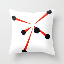SuperHOT - Shotgun bullets Throw Pillow