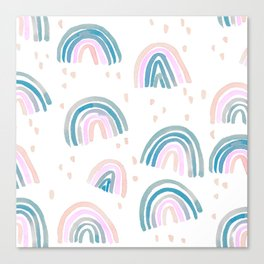Rainbow Chroma Pastel Canvas Print