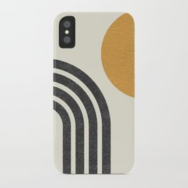 Mid century modern Sun & Rainbow iPhone Case