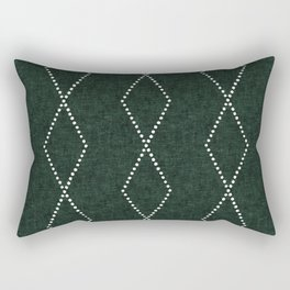 geometric diamonds - evergreen Rectangular Pillow