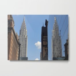 Reflections of The Chrysler Building, NYC Metal Print