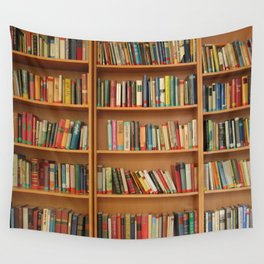 Bookshelf Books Library Bookworm Reading Wall Tapestry