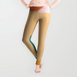 Pink wall art, Modern Minimalist print, Modern art, Sun Art, Sunset Art, Contemporary Art Boho Decor Leggings
