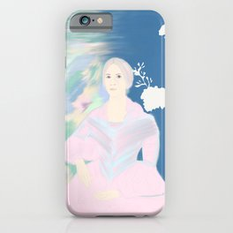 pink and blue Sarah Hayes iPhone Case