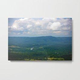 Blue Green Shenandoah Landscape Photograph Valleys and Hill Virginia Art  Metal Print