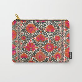 Kermina Suzani Uzbekistan Colorful Embroidery Print Carry-All Pouch