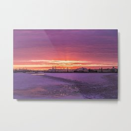 Winter Sunset, St. Petersburg, Russia Metal Print