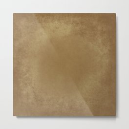 Abstract Tan Leather Texture Metal Print
