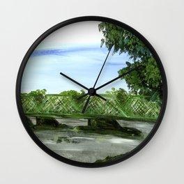 New Hope Lambertville Bridge Wall Clock