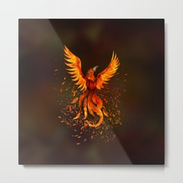 Rising Phoenix Bird  Metal Print
