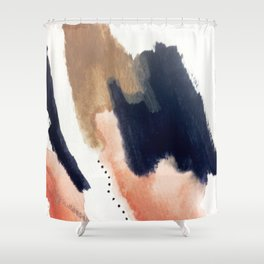 Drift Away [2] - a mixed media abstract piece in pink, brown, and purple Shower Curtain