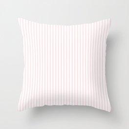 Light Millennial Pink Pastel Color Mattress Ticking Stripes Throw Pillow