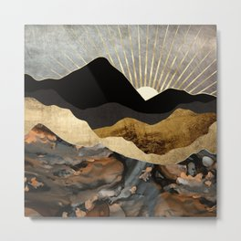 Copper and Gold Mountains Metal Print