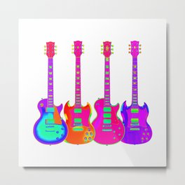 Four Electric Guitars Metal Print