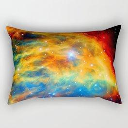 Rainbow Medusa Nebula Rectangular Pillow