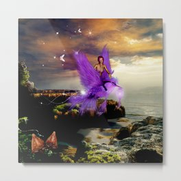Wonderful fairy with bird Metal Print